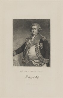 Adam Duncan, 1st Viscount Duncan, by J. Andrews, published by  Fisher Son & Co, after  John Hoppner - NPG D15601