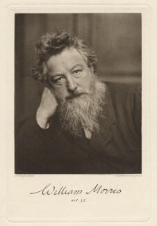 William Morris, by Frederick Hollyer, printed and published by  Walker & Boutall - NPG x3759