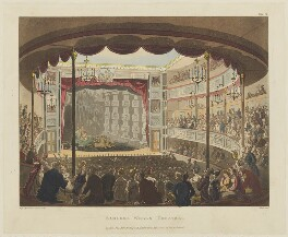 'Sadlers Wells Theatre', by Thomas Rowlandson, and by  Auguste Charles Pugin, aquatinted by  John Bluck, published by  Rudolph Ackermann - NPG D15620