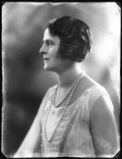 Gertrude Elliott, by Bassano Ltd - NPG x123362