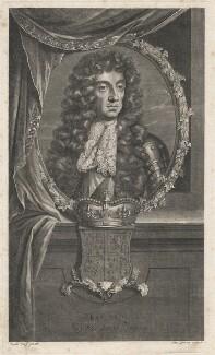 King Charles II, by Pierre Drevet, after  Adriaen van der Werff - NPG D18499