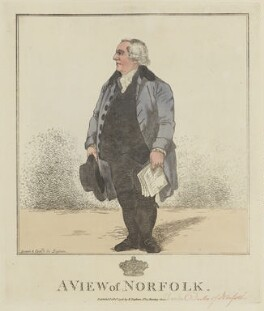 Charles Howard, 11th Duke of Norfolk ('A view of Norfolk'), by and published by Robert Dighton - NPG D15636