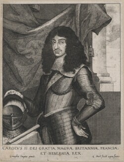 King Charles II, by Coryn or Quirin Bol (Boel), after  Gonzales Coques (Cockes, Cocx, Cox) - NPG D18508