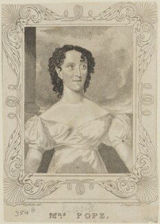 Clara Maria Pope, probably by John Rogers, after  Thomas Charles Wageman - NPG D15637