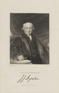 John Julius Angerstein, by Edward Scriven, published by  Fisher Son & Co, after  Sir Thomas Lawrence - NPG D15647
