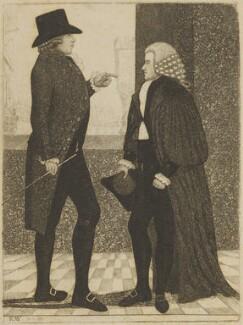 Henry Dundas, 1st Viscount Melville; Robert Dundas of Arniston, by John Kay - NPG D15649