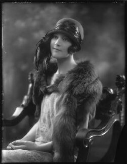 Hon. Violet Alma Madeline Baring, by Bassano Ltd - NPG x123400