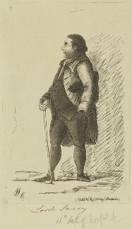 Charles Howard, 11th Duke of Norfolk, by James Sayers, published by  Charles Bretherton - NPG D15672