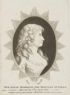 Caroline Amelia Elizabeth of Brunswick, published by Robert Laurie, published by  James Whittle - NPG D15689