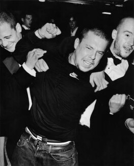 Dinos Chapman; Alexander McQueen; Jake Chapman, by Mario Testino - NPG P1023