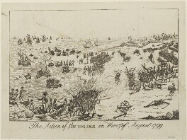 'The action of the Helder on the 27th of August 1799', by Unknown artist - NPG D15700