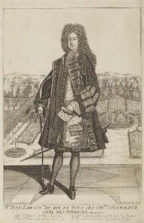 John Law, by Leonard Schenk, possibly published by  Pieter Schenck - NPG D15731