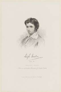 James Henry Leigh Hunt, by James Charles Armytage, published by  Smith, Elder & Co, after  Joseph Severn, (circa 1810) - NPG D15734 - © National Portrait Gallery, London
