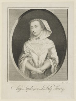 Mary Hervey (née Lepell), Lady Hervey of Ickworth, by James Heath - NPG D15736