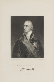 Charles Whitworth, 1st Earl Whitworth, by John Henry Robinson, published by  Fisher Son & Co, after  Sir Thomas Lawrence - NPG D15775