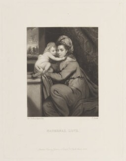 'Maternal Love' (Elizabeth Lamb (née Milbanke), Viscountess Melbourne with Peniston Lamb as a child), by James Scott, published by  Henry Graves, after  Sir Joshua Reynolds - NPG D15783
