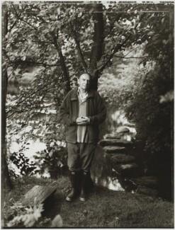 Ian Hamilton Finlay, by Tessa Traeger - NPG P1026(11)