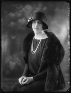 Hon. Sophia Zoe Isabelle Butler-Henderson (née Massey), by Bassano Ltd - NPG x123617