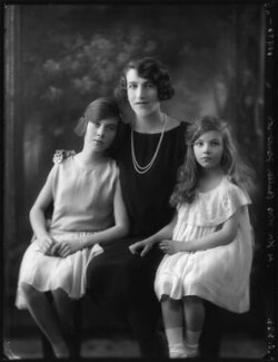 Hon. Mrs Butler-Henderson with her daughters, by Bassano Ltd - NPG x123618