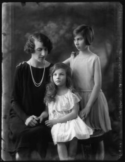 Hon. Mrs Butler-Henderson with her daughters, by Bassano Ltd - NPG x123619
