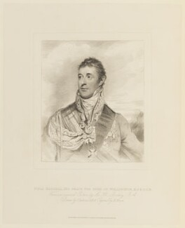 Arthur Wellesley, 1st Duke of Wellington, by Henry Meyer, published by  T. Cadell & W. Davies, after  John Jackson, after  Sir William Beechey - NPG D15814