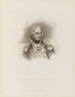 Horatio Nelson, by Robert Cooper, published by  T. Cadell & W. Davies, after  William Evans, after  Sir William Beechey - NPG D15817