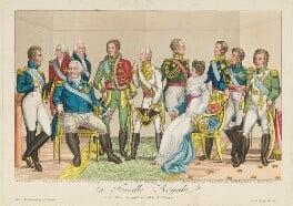'La famille royale et les alliées s'occupant du bonheur de l'Europe', published by Décrouant, early 19th century - NPG D15837 - © National Portrait Gallery, London