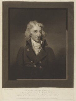 Henry Grattan, by Charles Howard Hodges, published by  George Cowen, after  Gilbert Stuart - NPG D15842