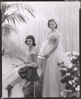 Jackie Kennedy Onassis; Princess Lee Radziwill (née Bouvier), by Cecil Beaton - NPG x40314