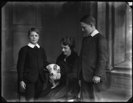 Frances Gage (née Lippitt) with her two step-sons, Edward Fitzhardinge Peyton Gage and Sir Berkeley Everard Foley Gage, by Bassano Ltd - NPG x33456