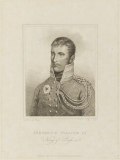 Frederick William III, King of Prussia, by Henry Meyer, published by  Rudolph Ackermann, after  F. Bolt - NPG D15859