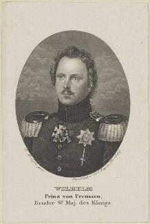 William, Prince of Prussia, by Carl Mayer, after  Franz Krüger - NPG D15862