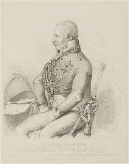 Gebhard Leberecht von Blücher, published by Rudolph Ackermann, probably after  Frederica Louisa Wilhelmina - NPG D15868