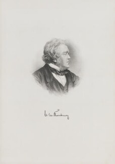 William Makepeace Thackeray, by H.W. Smith - NPG D15875