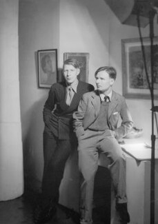W.H. Auden; Christopher Isherwood, by Howard Coster - NPG x541