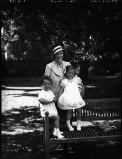 Sir George William Langham Christie; Audrey Mildmay; Rosamund Agnes Hay Christie, by Bassano Ltd - NPG x37207