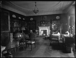 'View of Lady Illingworth's study and library', by Bassano Ltd - NPG x80976