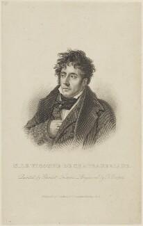 François Auguste René, vicomte de Chateaubriand, by Robert Cooper, published by  Joseph Robins, after  Anne Louis Girodet de Roucy Trioson - NPG D15918