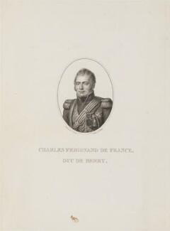 Charles Ferdinand, duc de Berry, by B. Roger, after  J. Croizier - NPG D15922