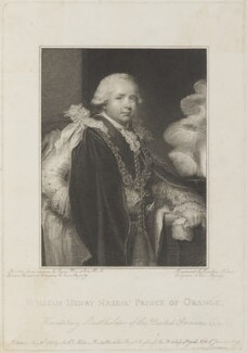 William V, Prince of Orange, by Caroline Watson, published by  Anthony Molteno, after  Ozias Humphry - NPG D15931