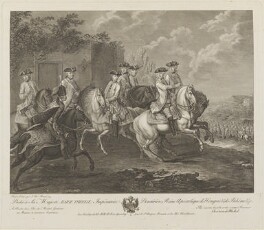 A review of the Imperial troops, by Christian von Mechel, after  Johann Christian Brand - NPG D15937