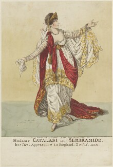 Angelica Catalani ('Madame Catalani in Semiramide'), by and published by Robert Dighton - NPG D15939