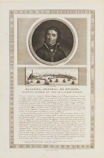 André Masséna, duc de Rivoli, prince d'Essling, by Charles François Gabriel Levachez, and by  Jean Baptiste Réville, after  Ferréol de Bonnemaison - NPG D15950