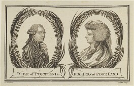 William Henry Cavendish Bentinck, 3rd Duke of Portland; Dorothy Bentinck (née Cavendish), Duchess of Portland, by Noble, after  Dodd - NPG D15955