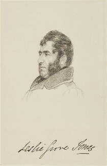 Leslie Grove Jones, by Giles Firmin Phillips, after  Abraham Wivell - NPG D15957