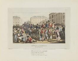 'Battle of Waterloo', by Matthew Dubourg, published by  Edward Orme, after  John Heaviside Clark - NPG D15959