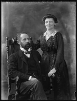 George Gordon, 2nd Marquess of Aberdeen and Temair; Mary Florence Gordon (née Clixby), Marchioness of Aberdeen and Temair, by Bassano Ltd, 1 February 1922 - NPG x80958 - © National Portrait Gallery, London