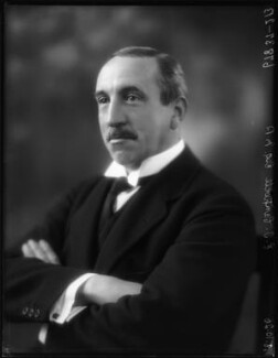 Sir Edward Taswell Campbell, 1st Bt, by Bassano Ltd - NPG x123718