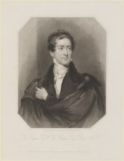Sir Robert Peel, 2nd Bt, by and published by Henry Thomas Ryall, published by  James Fraser, and published by  Sir Francis Graham Moon, 1st Bt, after  Sir Thomas Lawrence - NPG D16024