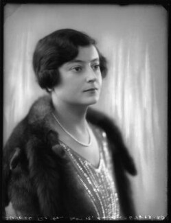 Marion Emma Ruthven ('Mollie') Anson (née Halliday), by Bassano Ltd, 26 October 1926 - NPG x123733 - © National Portrait Gallery, London